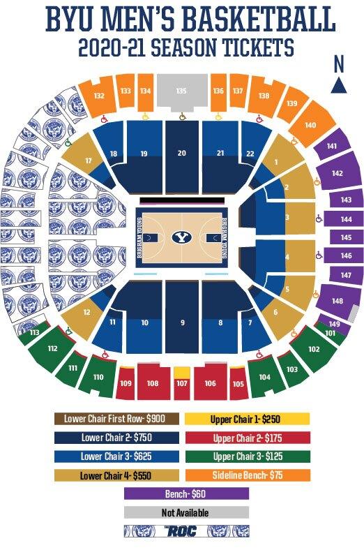 BYU Men's Basketball Season Ticket Map