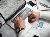 Architect designing in CAD.