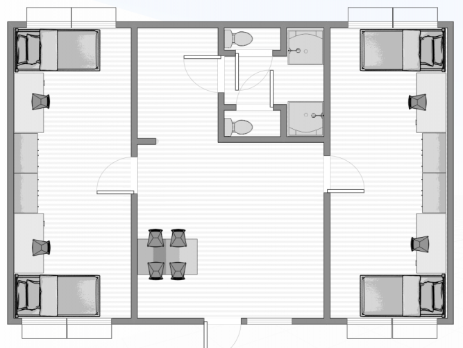 This is the floor plan to Hale 3 and 4.