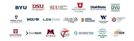 school logos representing all of the higher education participants in ProjectProtect.