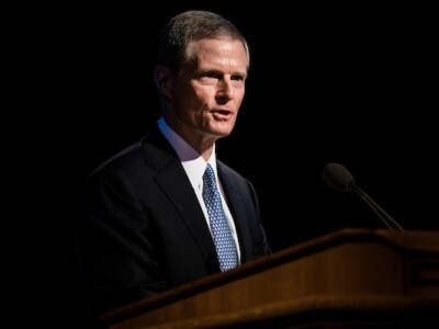Elder David A. Bednar addresses BYU employees at the general session of University Conference