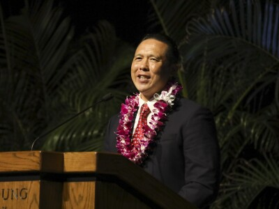 President Taran K. Chun at the podium