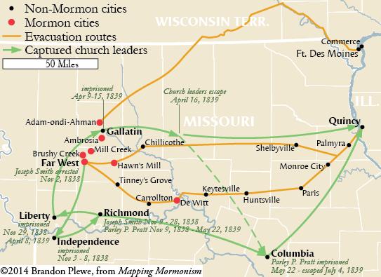 Evacuating Missouri, 1838