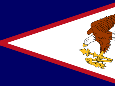 The country of American Samoa flag