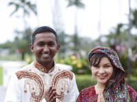Image of multicultural BYUH students dressed in traditional clothing smiling