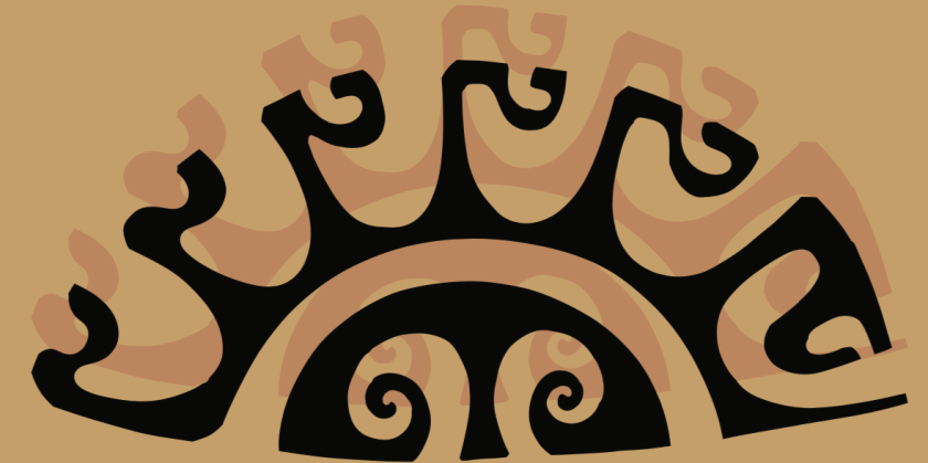 A graphic of a Polynesian tattoo.