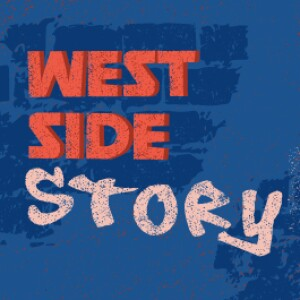 """A picture with the words """"West Side Story"""" on the front. A spray can is next to it."""