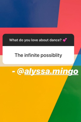 BYU Dance Instagram Story Response - The Infinite Possibility
