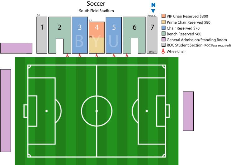 BYU Women's Soccer seating