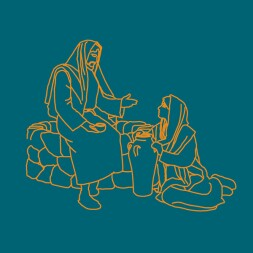 illustration of Jesus and woman at the well
