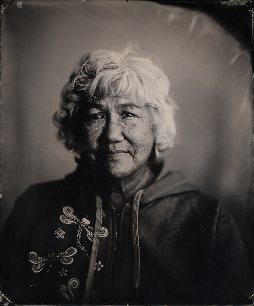 Old-time photograph of a Native American woman named Florence