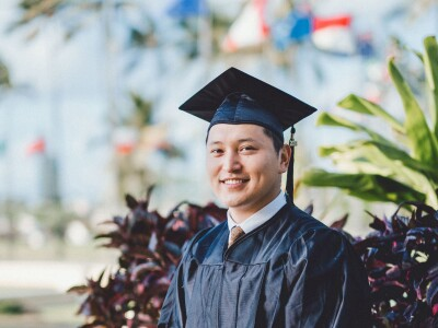 Mongolian senior and dedicated family man says he pushed himself to learn outside of the classroom
