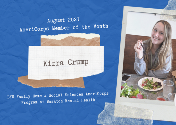 Kirra Crump AmeriCoprs Member of the Month Infographic