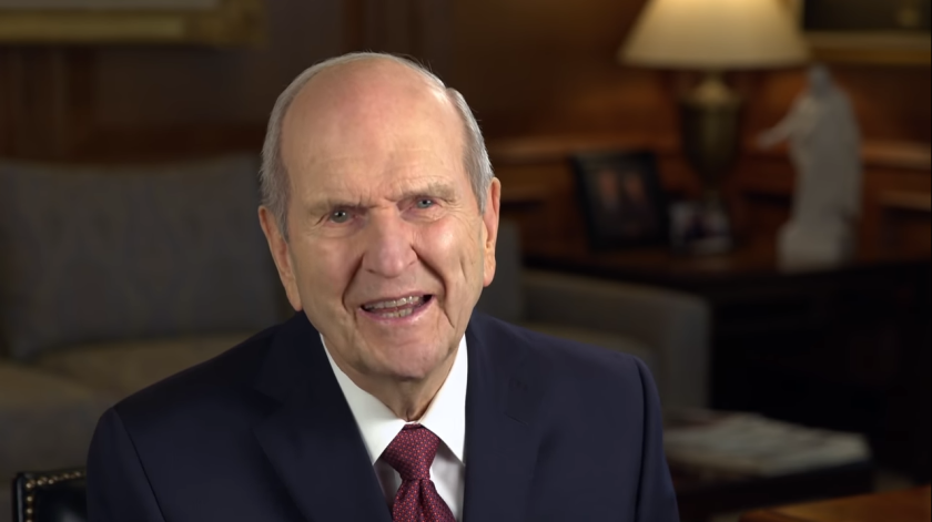 President Nelson in a video message.