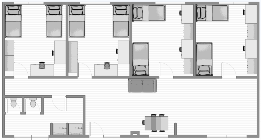 Overview of a Hale 1 four-bedroom plan
