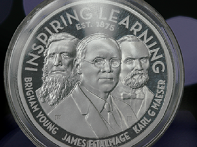 Karl G. Maeser and James E. Talmage mentorship inspired special BYU coin