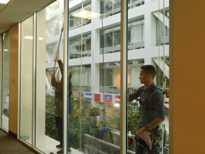TNRB Building Care & Specialty Services window washers.