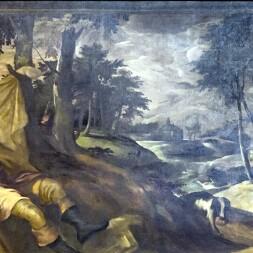 San Rocco Venezia (Interno) - San Rocco colpito dalla peste - Ti