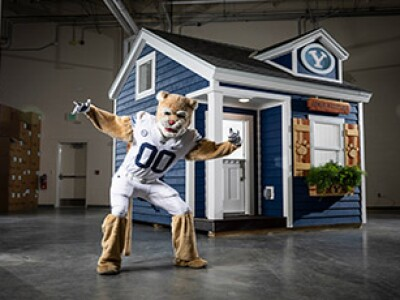 BYU builds, donates two custom-made playhouses for Festival of Trees