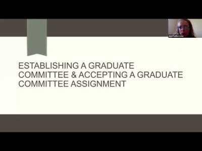Establishing your Graduate Committee