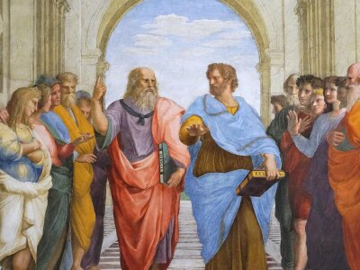 Photo of School of Athens Painting