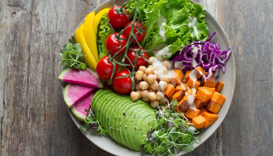image of vibrant green salad