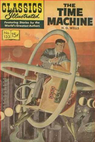 A man is flying with a time machine
