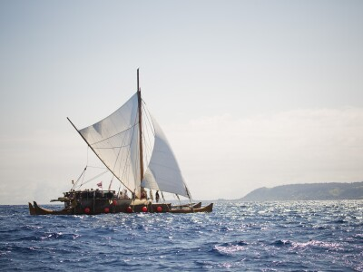 Iosepa Polynesian canoe voyaging in the Pacific ocean