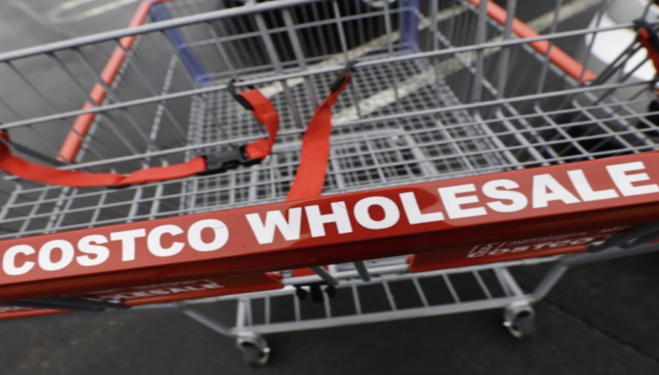 A Costco shopping cart