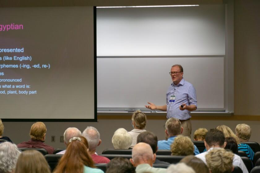 Professor David Eddington Lecturing