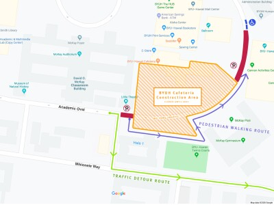 Academic Oval Road Closure
