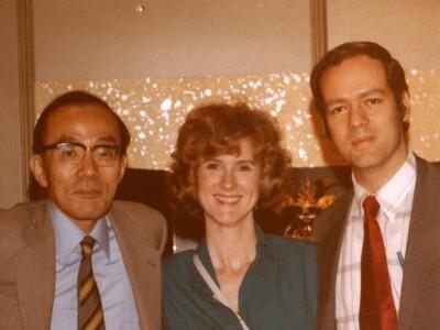 (From left to right) Endo Shusaku, Elizabeth Gessel, and Van C. Gessel in Tokyo, Japan in 1984.
