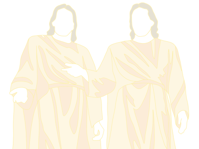 An illustration of Heavenly Father and Jesus Christ extending their arms out.