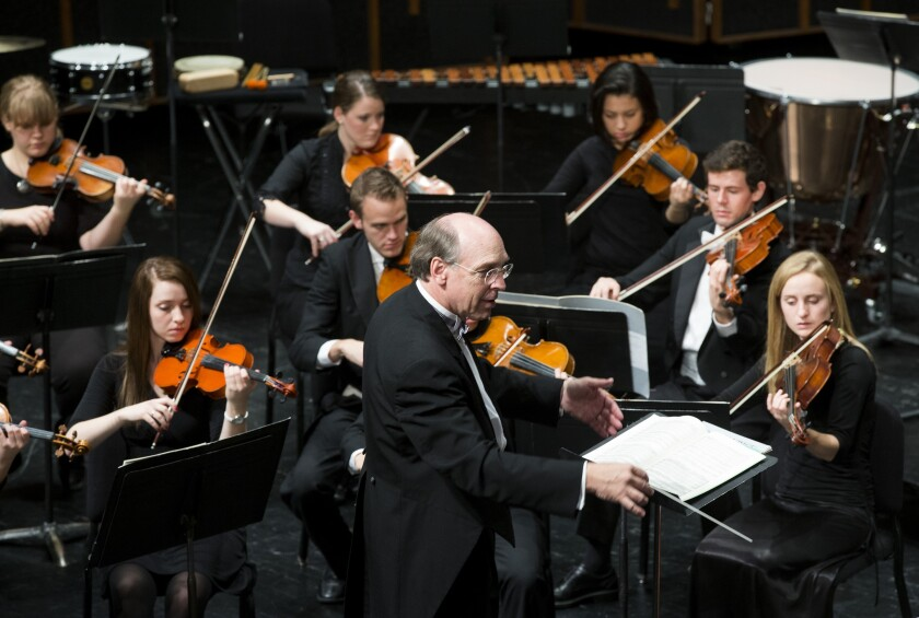 Kory Katseanes conducts the Brigham Young University Chamber Orchestra