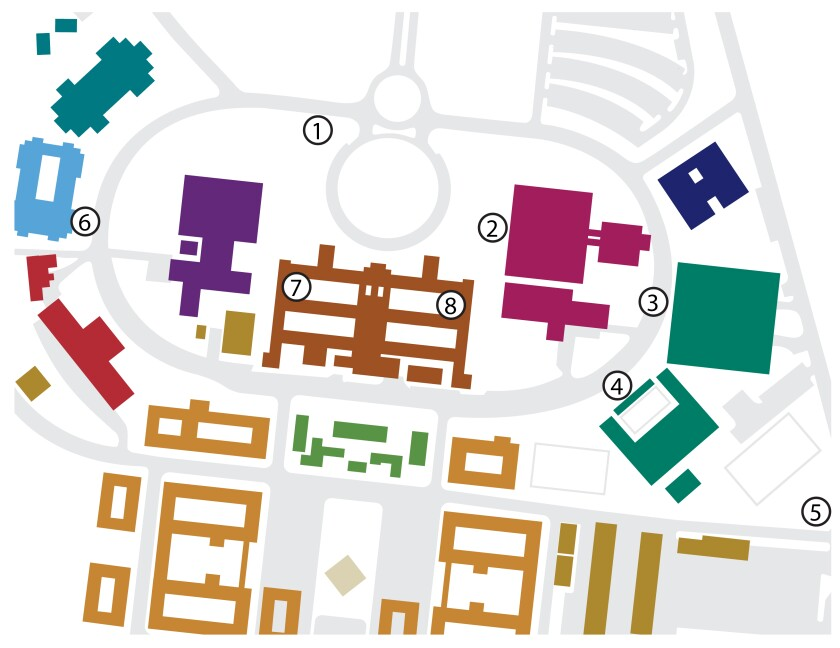 A diagram of the different approved banner spaces: