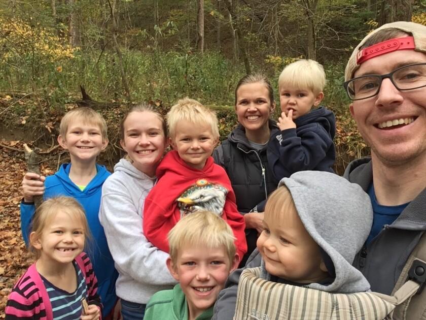 Dr. Erik Nelson Family Hiking