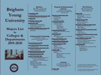 BYU Majors List