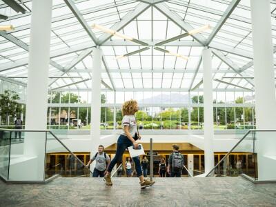 Image of students walking