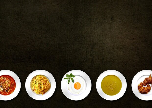 Plates of food