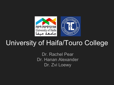 Jewish - University of Haifa/Touro College