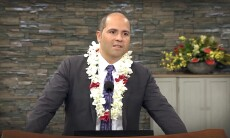 President John Kauwe's first devotional testified of the importance of principles