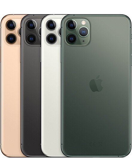 Image of four I Phone Pro Max Cell Phones