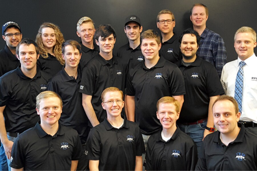 Image of the 2017 BYU Mars Rover team