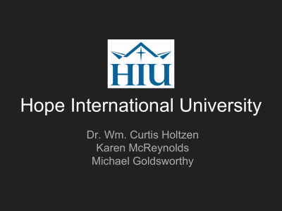 Christian Church - Hope International University