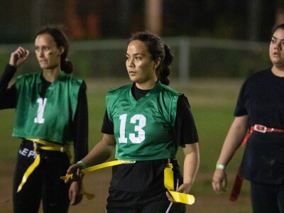 Female BYU–Hawaii students gather for flag football tournament to empower themselves and build friendships
