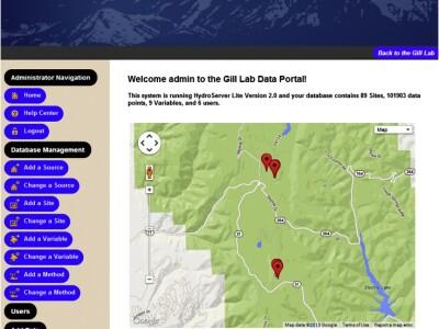 Screenshot of Hydroserver Lite Data Portal