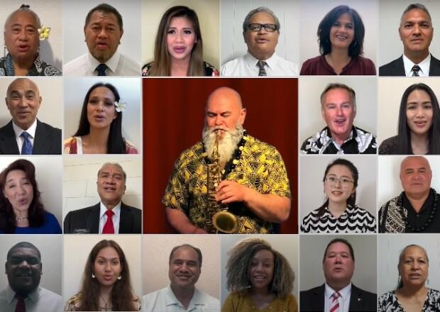 Alumni choir from the virtual alumni reunion.
