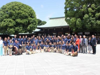 Concert Choir Performs at Meiji Shrine in Japan