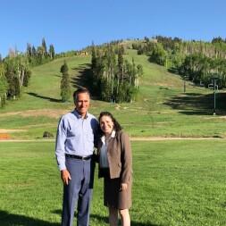 Bethany and Mitt Romney in Park City, Utah.