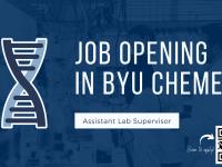 Job opening - Assistant Lab Supervisor